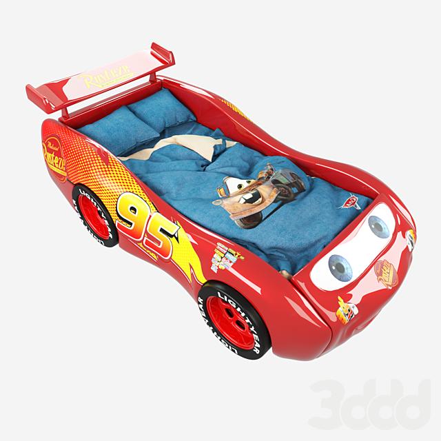 Кровать Lightning Mcqueen