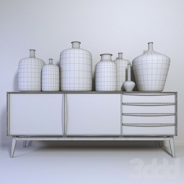 Sideboard with decor