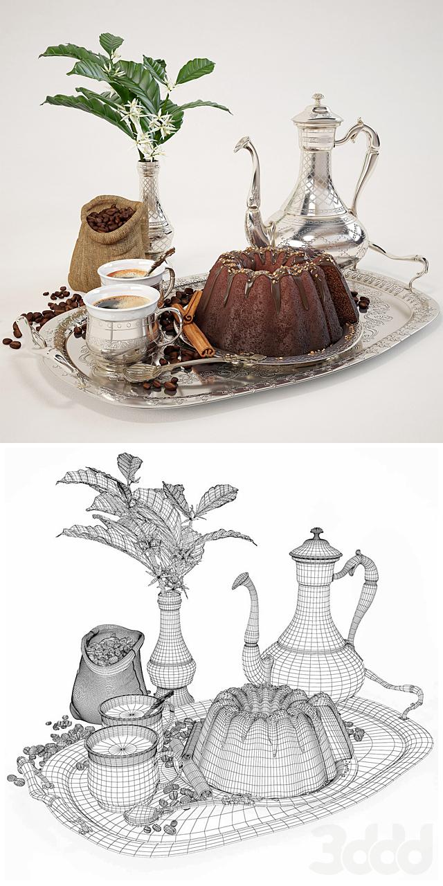 кофе с шоколадным кексом