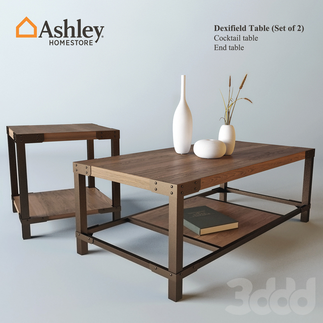Dexifield Table Set of 2 (Ashley) with decor