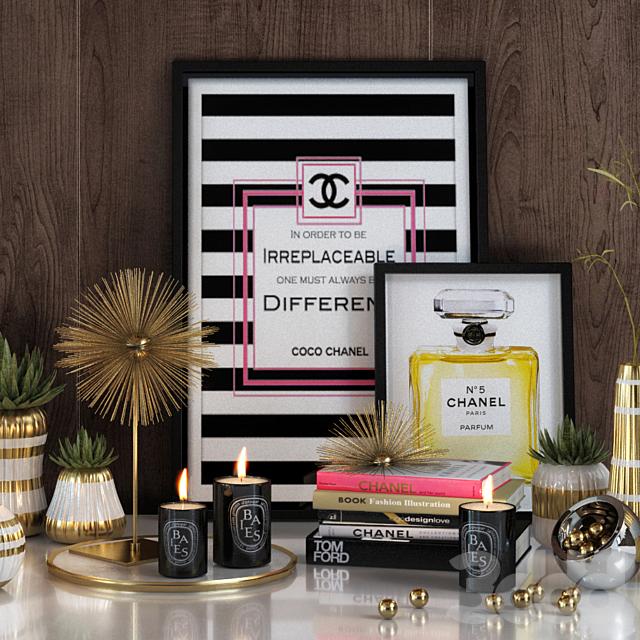 Chanel decorative set