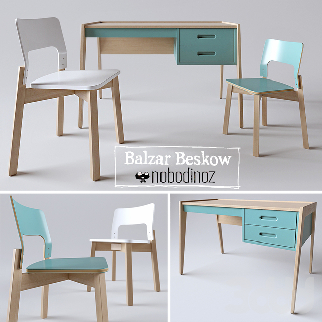 Desk by Nobodinoz & chair by Balzar Beskow
