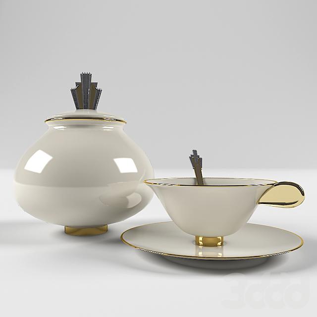 Art deco coffee set
