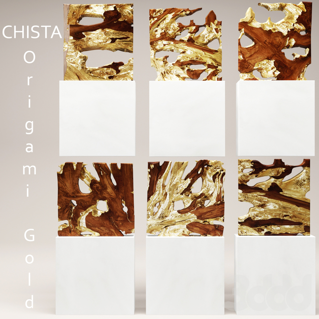 CHISTA . Origami Gold.