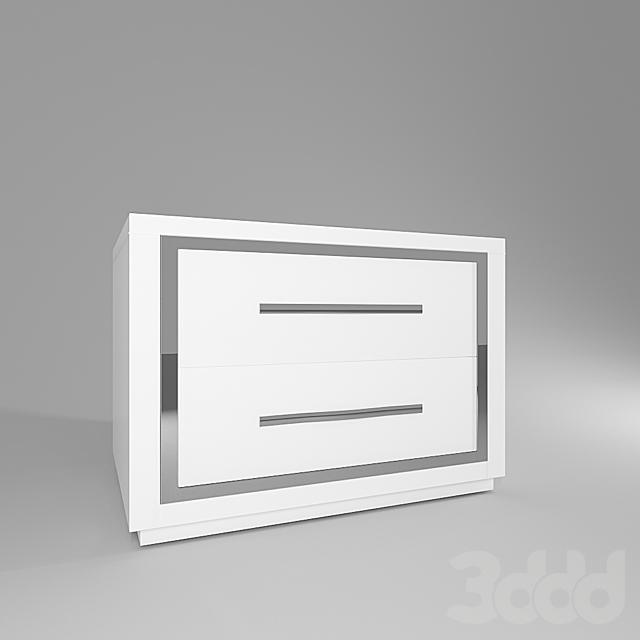 Белая прикроватная тумба Steel white