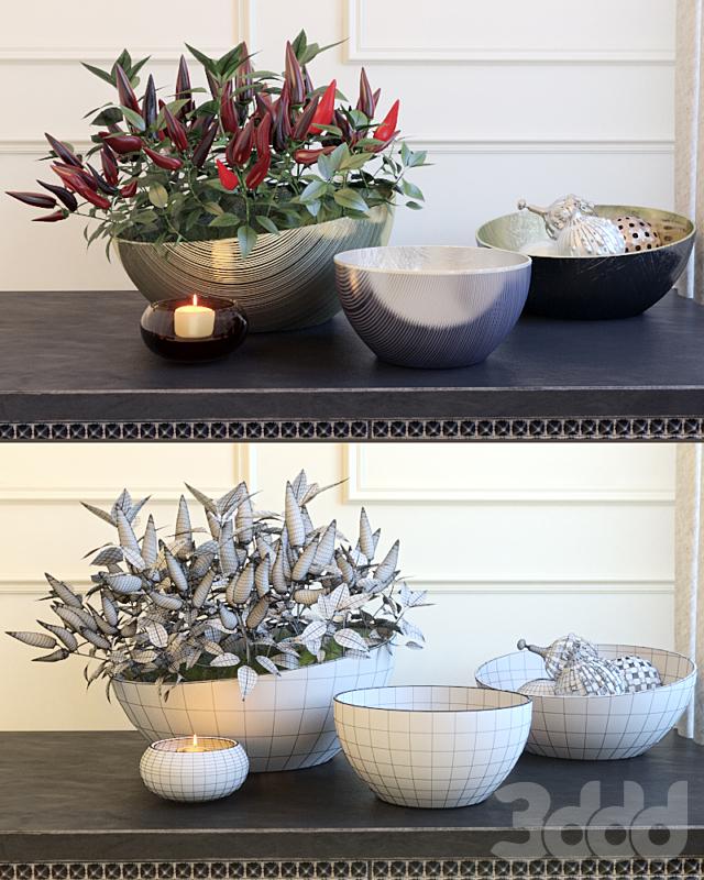 Декоративный набор с перцами by Kelly Hoppen