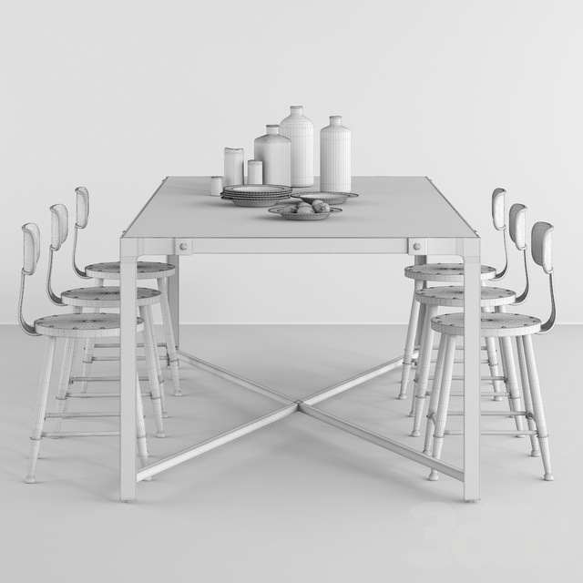 POTTERYBARN  DINING TABLE AND LOFT MINI CHAIR