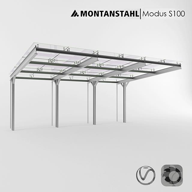 Стеклянный навес Modus S100