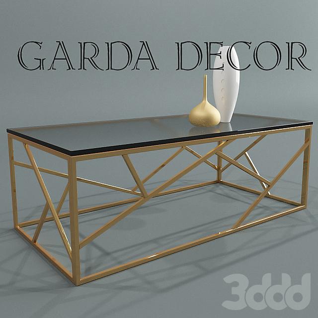 Стол журнальный золотой Garda Decor