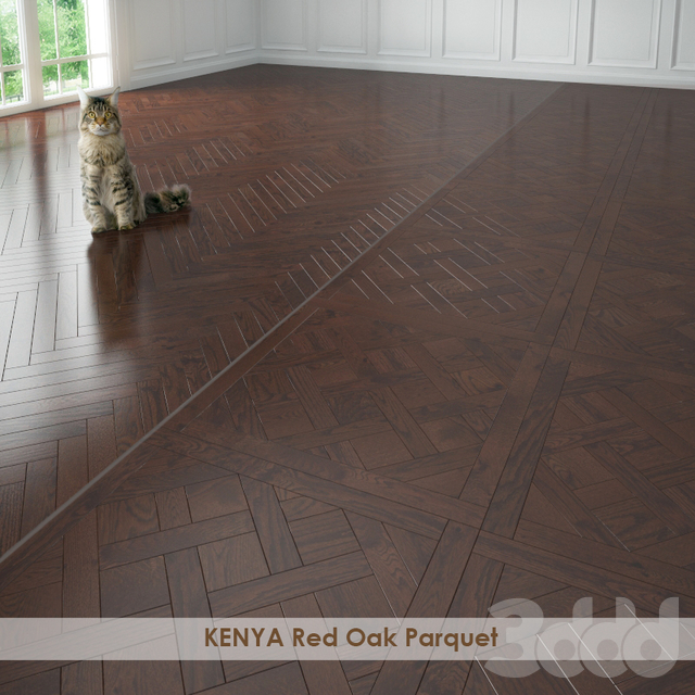 KENYA Red Oak Parquet