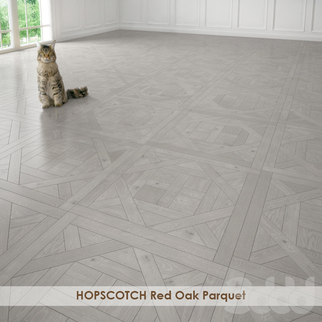HOPSCOTCH Red Oak Parquet