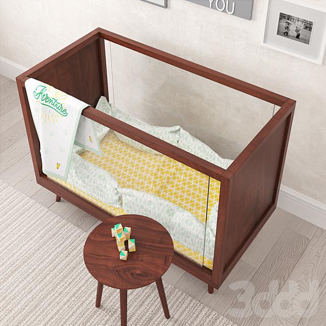 Acrylic wood bed