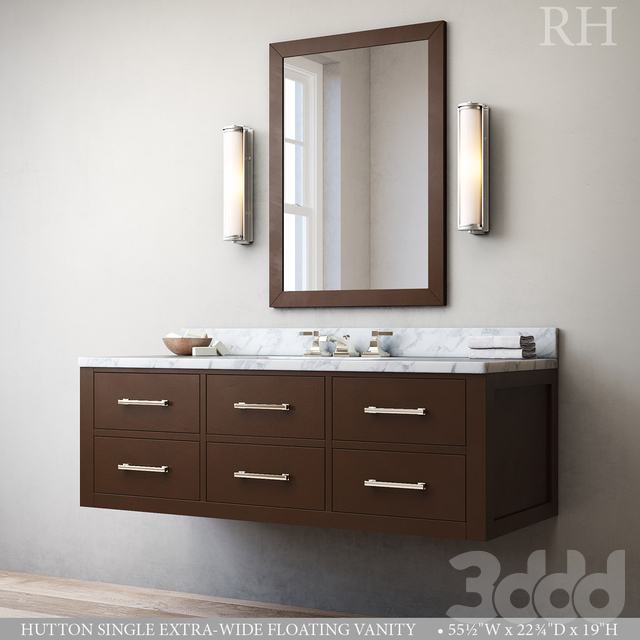 HUTTON SINGLE EXTRA-WIDE FLOATING VANITY