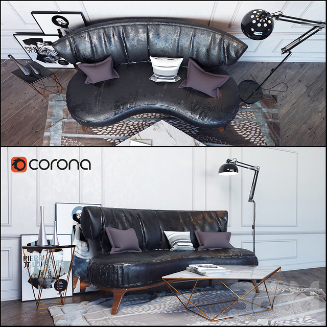 """Декоративный набор""""Loft"""" с диваном Flexform"""
