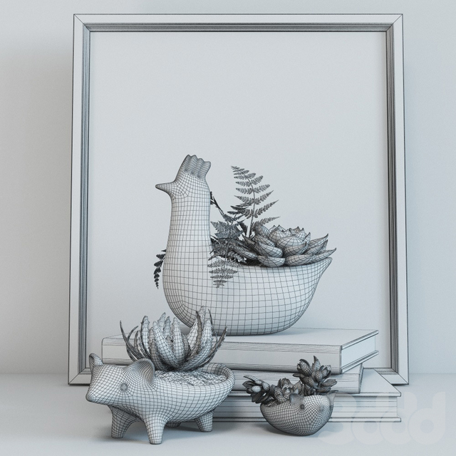 Набор с курицей и ежами