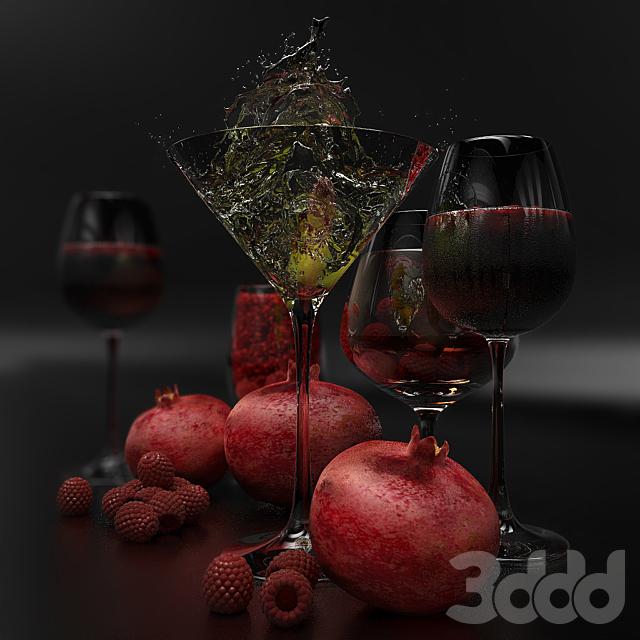 Набор (напитки и фрукты)