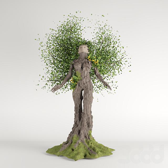 Девушка модель дерево работ модна каста реклама