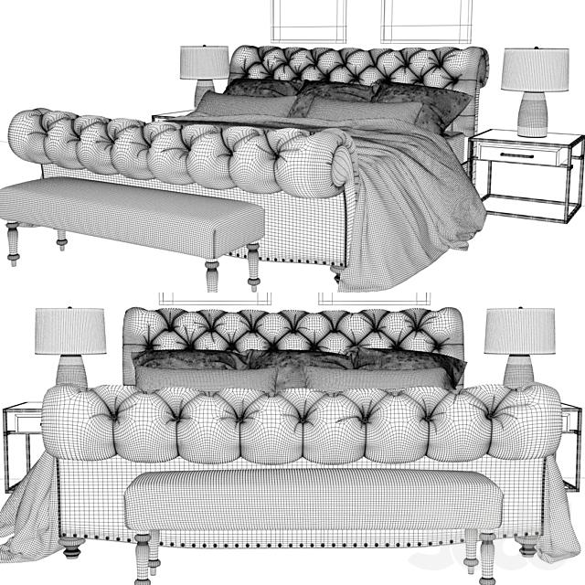 Burton eloise tufted sleigh bed