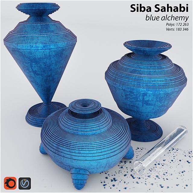 "Siba Sahabi ""blue alchemy"" decor set"