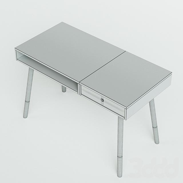 Белый письменный стол Sonnenblick в скандинавском стиле
