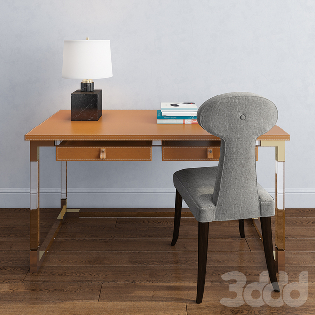jonathan adler, jacques desk, vera dining chair