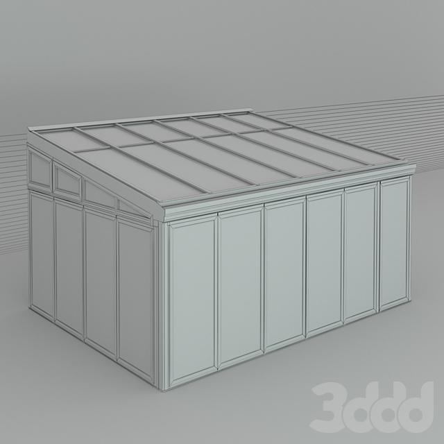 Зимний сад (№1.1) CMC 50 MODUS. Односкатный (модификация)
