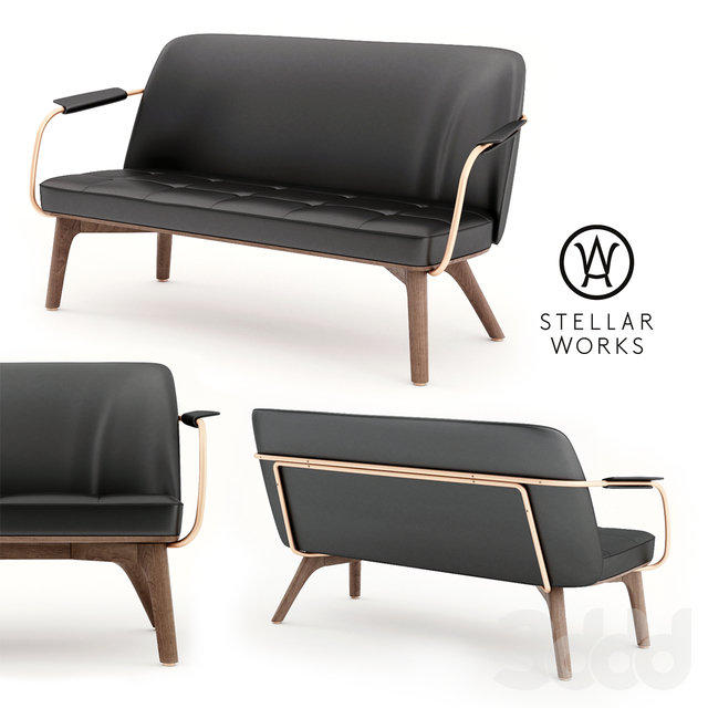 Stellarworks - Utility Lounge Chair Two Seater