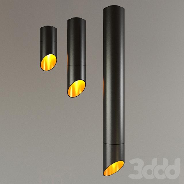 Накладной светильник D-067U черный