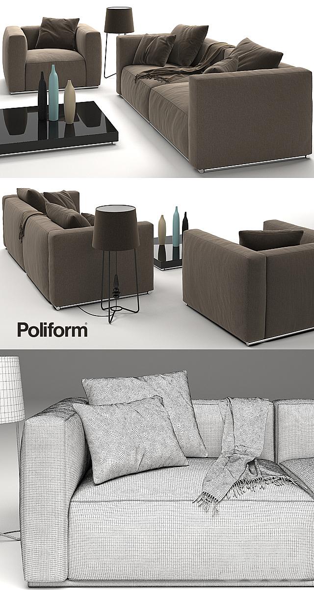Диван и кресло Poliform Shangai