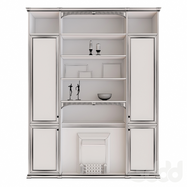 Mr Doors Composition with Decor Set and fireplace Dimplex Shaftesbury