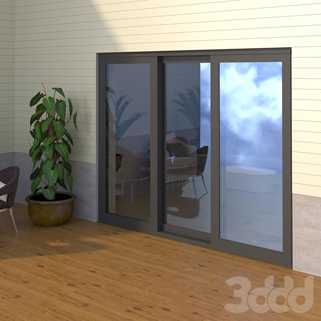 Раздвижная дверь ASS 70.HI - ST 2C