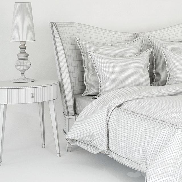 Кровать Selva Vendom; столик Selva Vendome; лампа Metalarte Josephine
