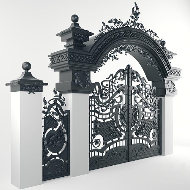 Ворота Кованые Арочные