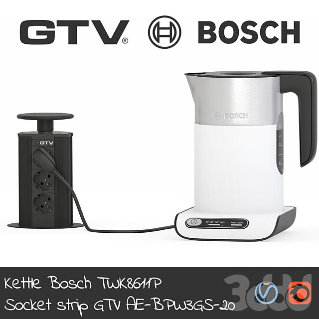 Чайник Bosch & Блок розеток GTV