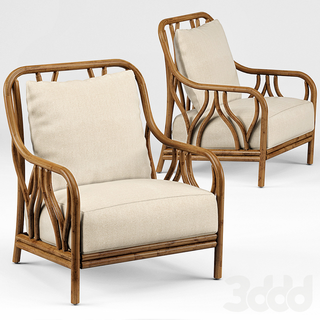 Carmela Rattan Pole Wishbone Chair