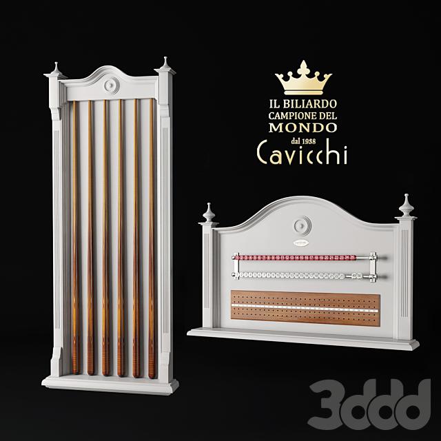 "Cavicchi Exclusive Billiards ""ScoreKeeper"" and ""Cue Rack"""