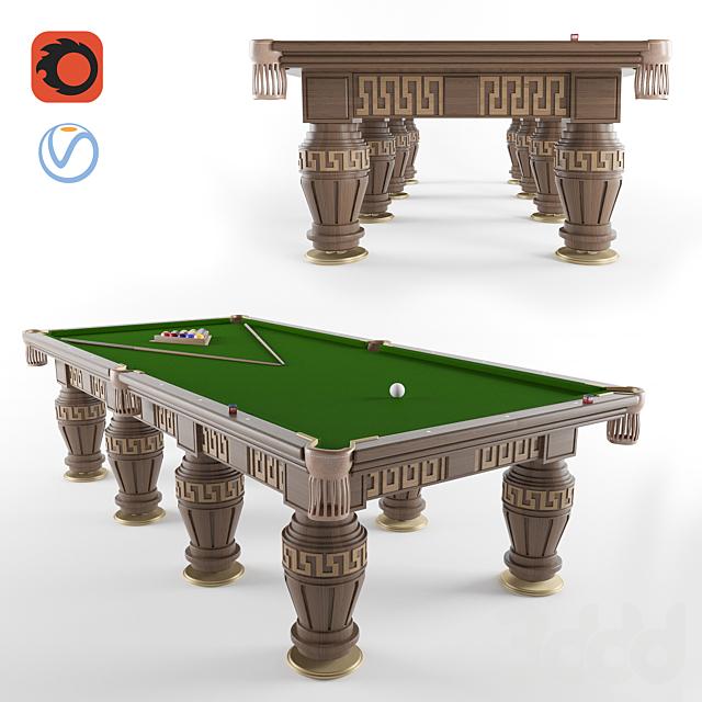 Бильярдный стол в греческом стиле
