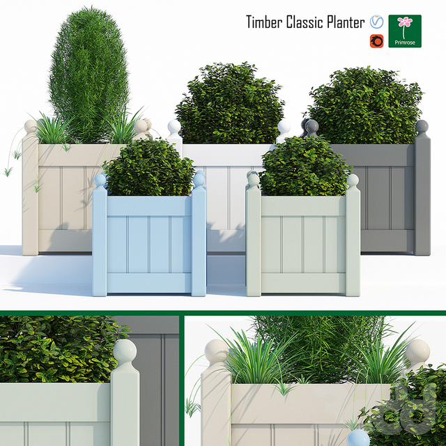 Timber classic planter