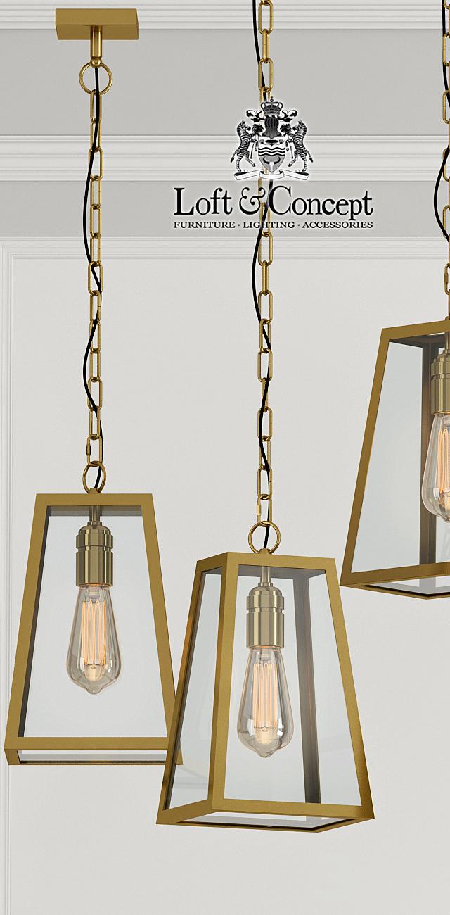 Люстра Loft Industrial Ortogonal pendant Brass