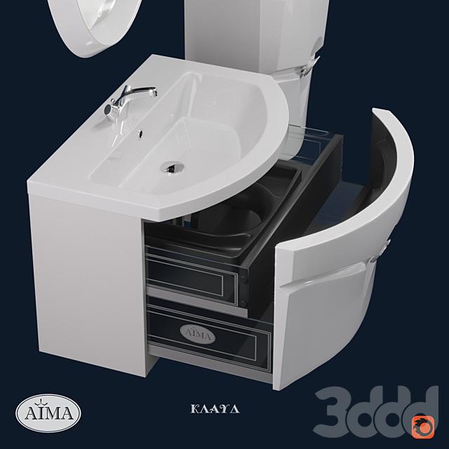 Комплект мебели для ванной Клауд