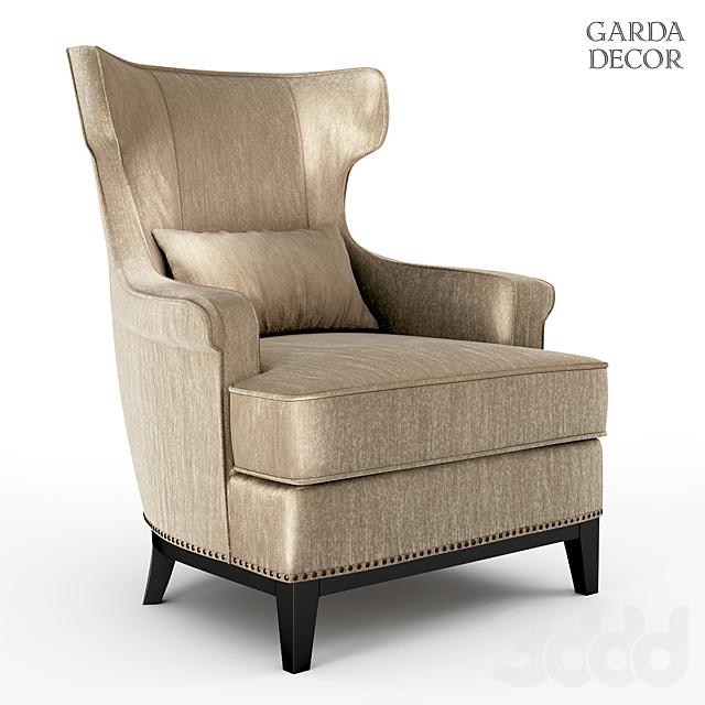 Кресло с подушкой бежевое, Garda Decor