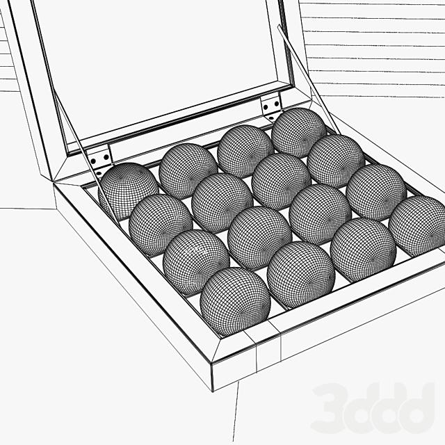 Pool Ball in Wood Box