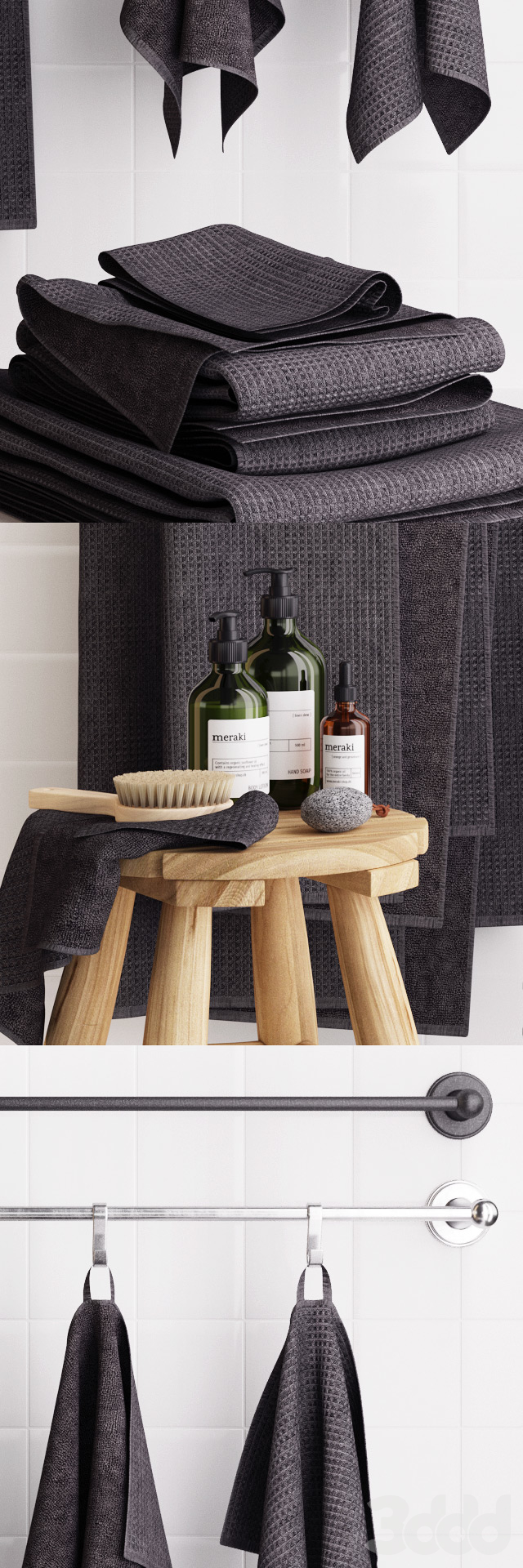 Zara Rustic Bathroom Set