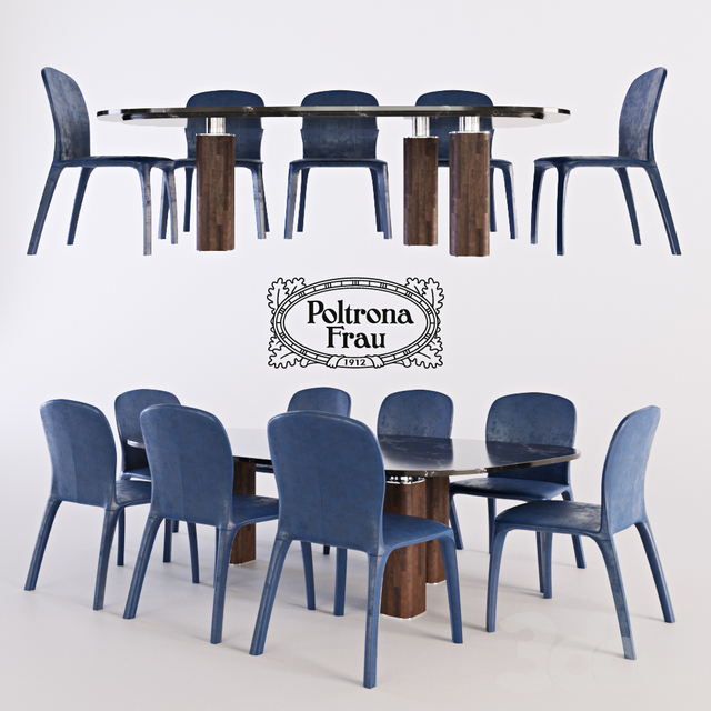 Poltrona Frau Amelie Chair Jane table