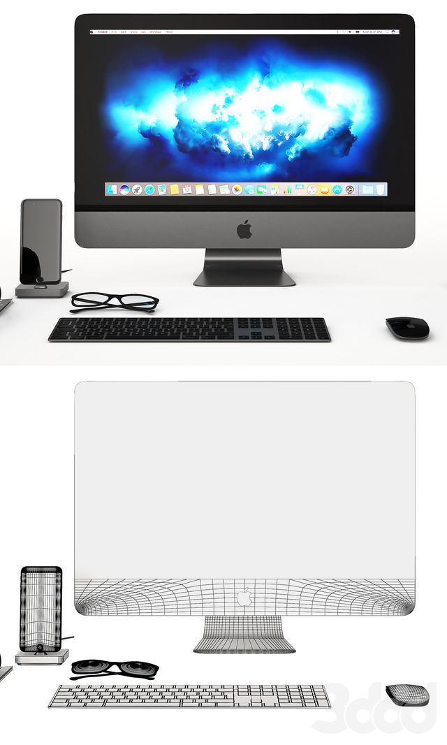 Workplace Space Gray IMac
