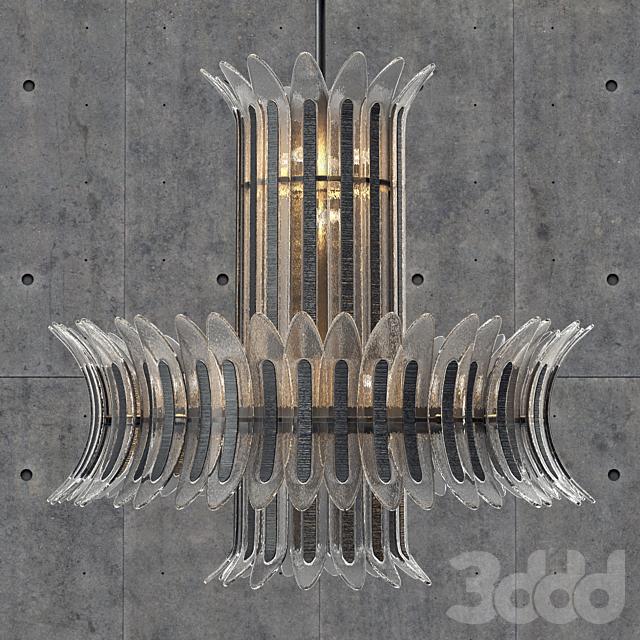 Wired Custom Lighting Palm Chandelier