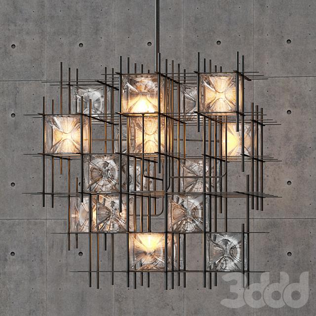Wired Custom Lighting Hatch Chandelier