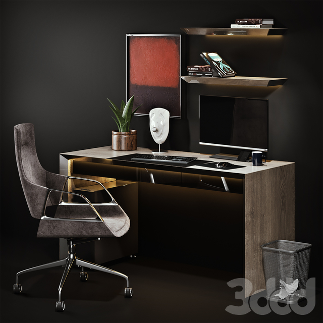 Workplace with Graph Chair
