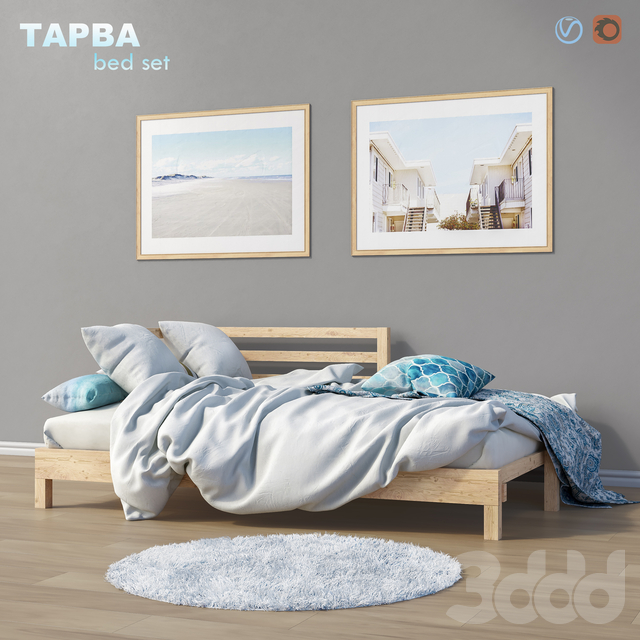 Bed daybed IKEA ТАРВА set 2