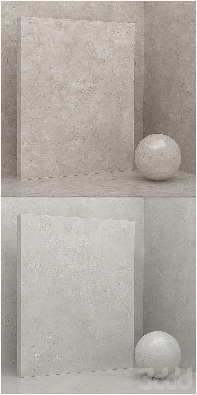 4 материала (бесшовный) - камень, штукатурка - set 12